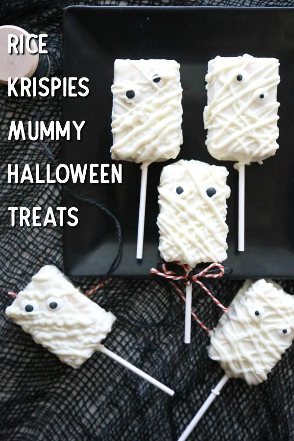 rice krispies mummy treats