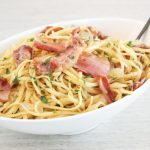 Linguine with Bacon and Parmesan