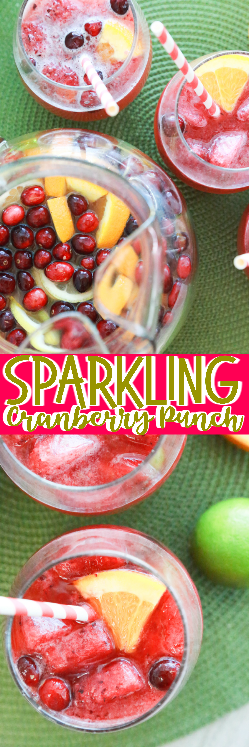 This Sparkling Cranberry Punch is a drink the entire crowd can enjoy for the holidays.