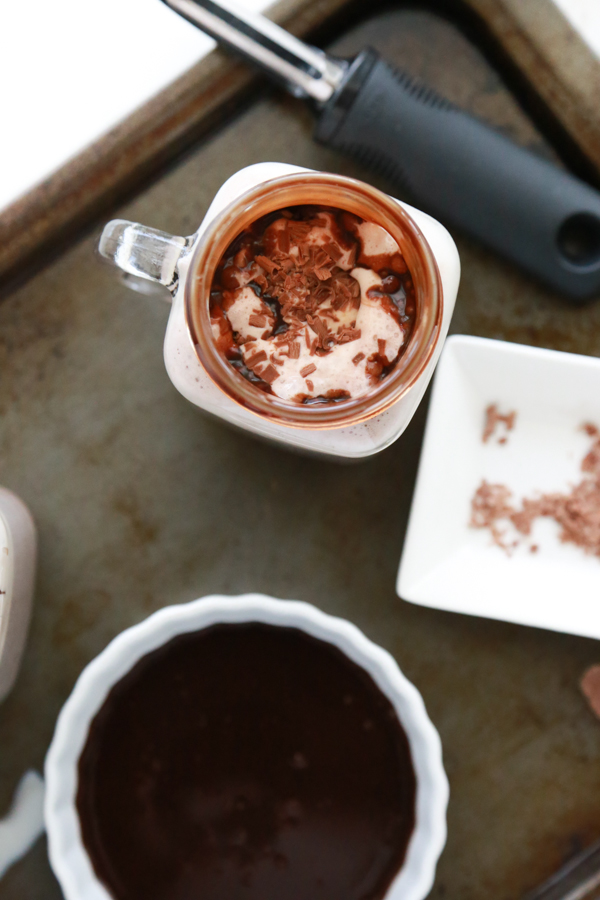It never occurred to me until a few weeks ago to put ice cream in hot chocolate. I know it seems kind of silly, but y'all, you have to try it. A Hot Chocolate Float is an extraordinary way to have the best of both worlds.