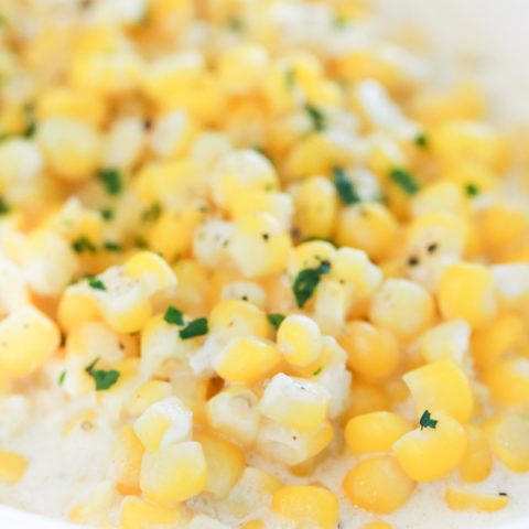 'Tis the season, right? While you're in the kitchen tending to other dishes, this Slow Cooker Creamed Corn does its own thing and is ready in about 2 hours.
