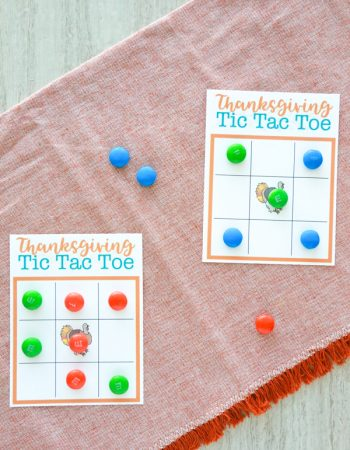 If you think a game of Tic Tac Toe is fun, then you'll love playing a game of Thanksgiving Tic Tac Toe.