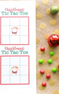 It's Christmas time in the City. Challenge your friends and family to a fun game of Christmas Tic Tac Toe with these free printables.