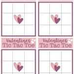 Valentines Tic Tac Toe Printable