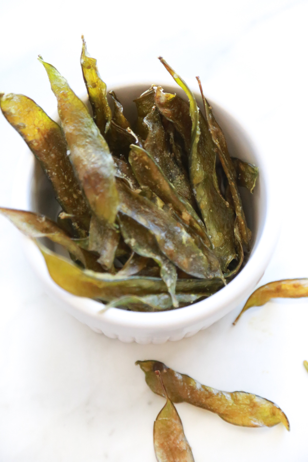 homemade snap pea chips recipe