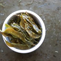 Homemade Snap Pea Chips