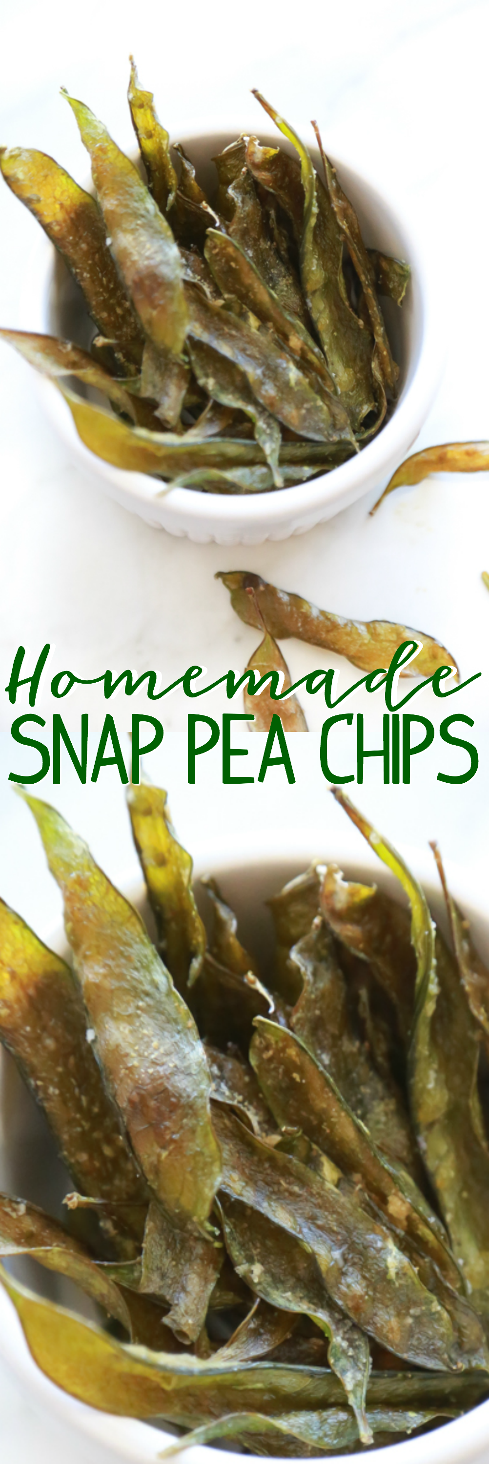 "Using fresh, organic snap peas, you can make the most delectable batch of ""chips"" you've ever had. Learn how to make these Homemade Snap Pea Chips in under a minute with this video."