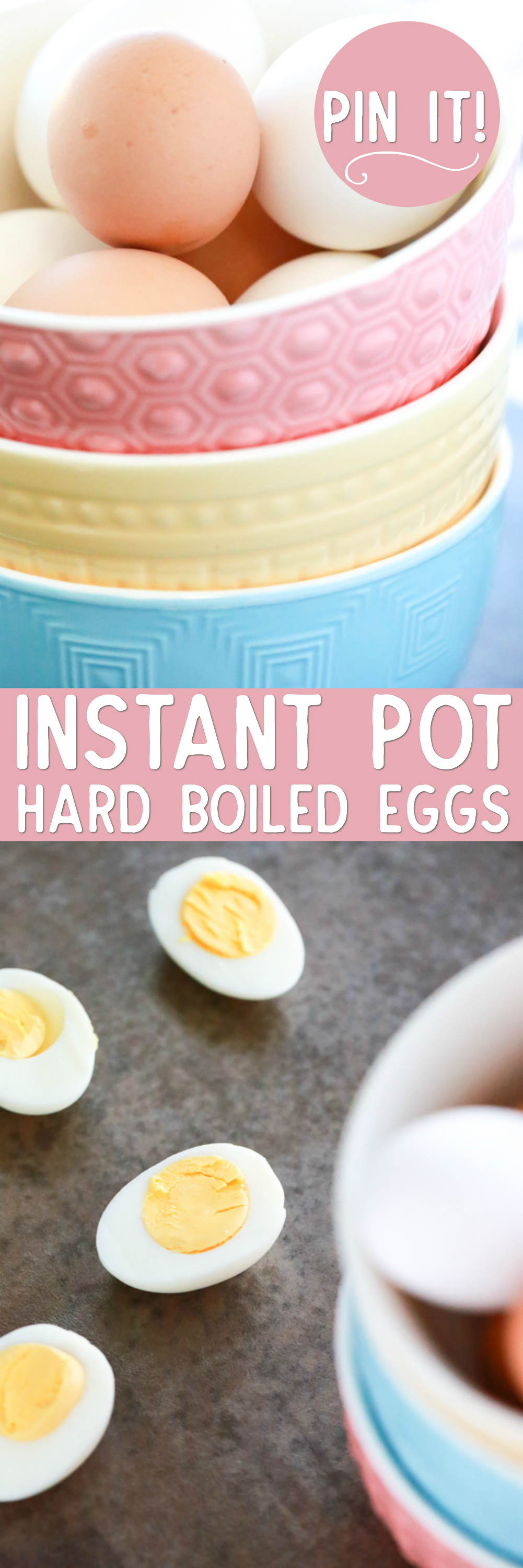 Instant Pot Hard Boiled Eggs are amazing each and every time I make them! They're easy to peel and that rich yellow yolk gets me every time, y'all.