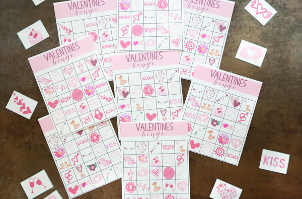 FREE Valentines Day Bingo Bundle with 8 unique cards