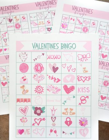Get your Valentines Day Bingo Bundle now absolutely FREE! Challenge your friends and family to a fun game of Valentines Bingo with these free Valentines printables.