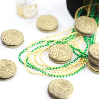 Edible Gold Oreos for St. Patrick's Day
