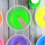 Making homemade chalk is easy. Ingredients to make Bunny Butt Easter Chalk.