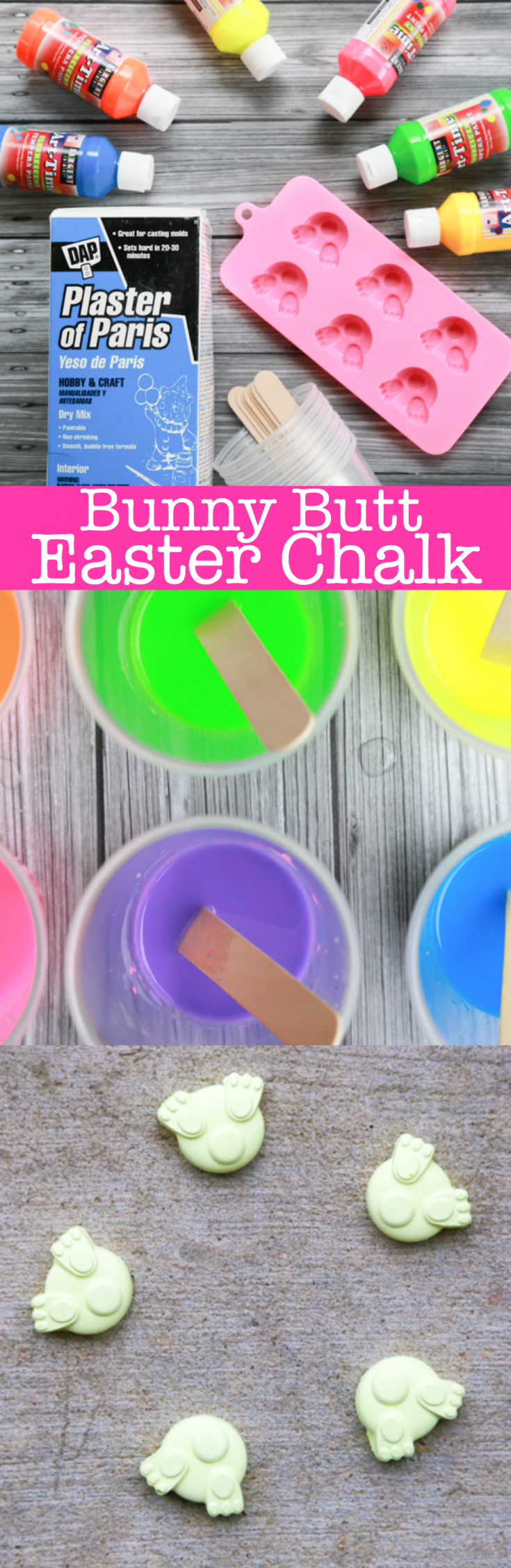 Love bunny butts? Then you'll love making and playing with Bunny Butt Easter Chalk. Keep on reading to learn how to make homemade chalk.