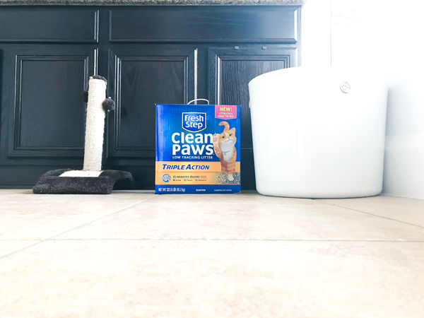 a litter box with fresh step clean paws cat litter