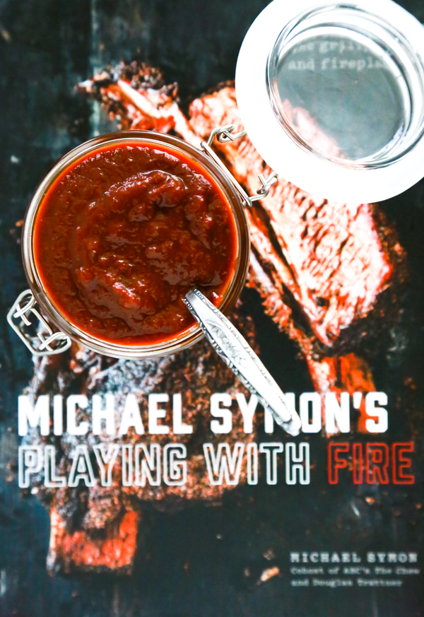 Michael Symon's new cookbook playing with fire with texas bbq sauce from his cookbook