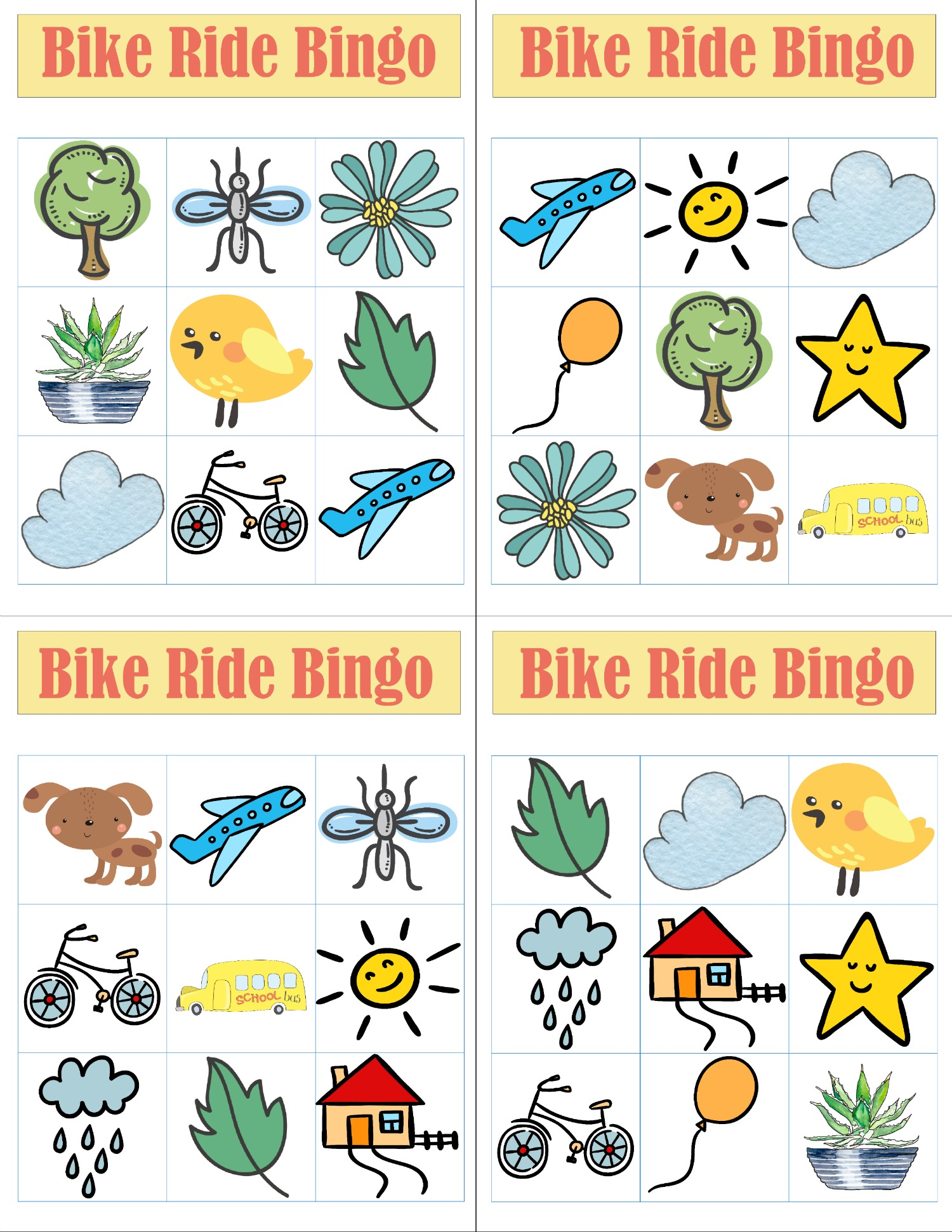 Add some adventure to your family's bike ride with these FREE Bike Ride Bingo printables.