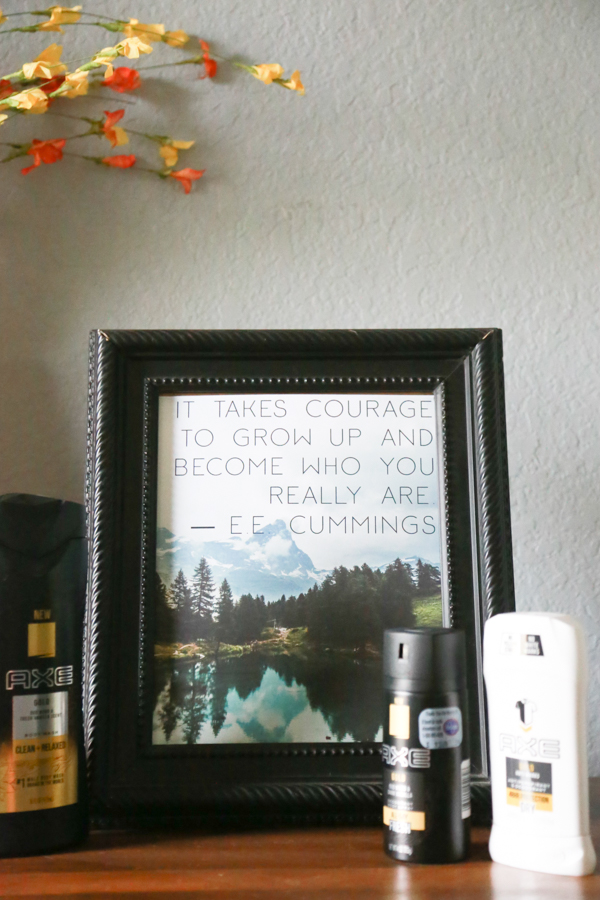 My boys are growing up and I'm always looking for uplifting, positive prints for my home. I want to surround them with positivity, encouragement and love. This Free Courage Quote Art Printable is just perfect. It has a great quote from E.E. Cummings and would make a great addition to the decor in your home.