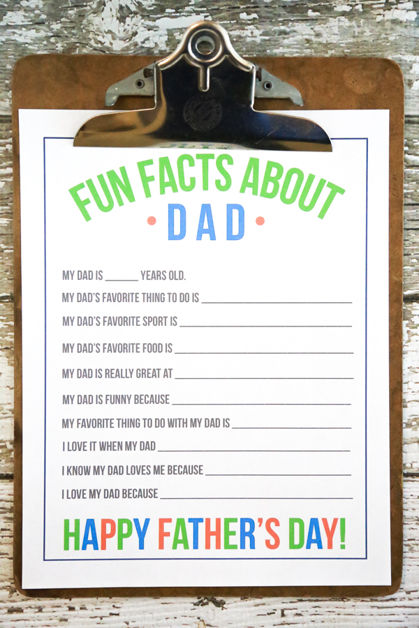 photograph regarding All About My Dad Printable referred to as Pleasurable Info Regarding Father Printable for Fathers Working day Very easily