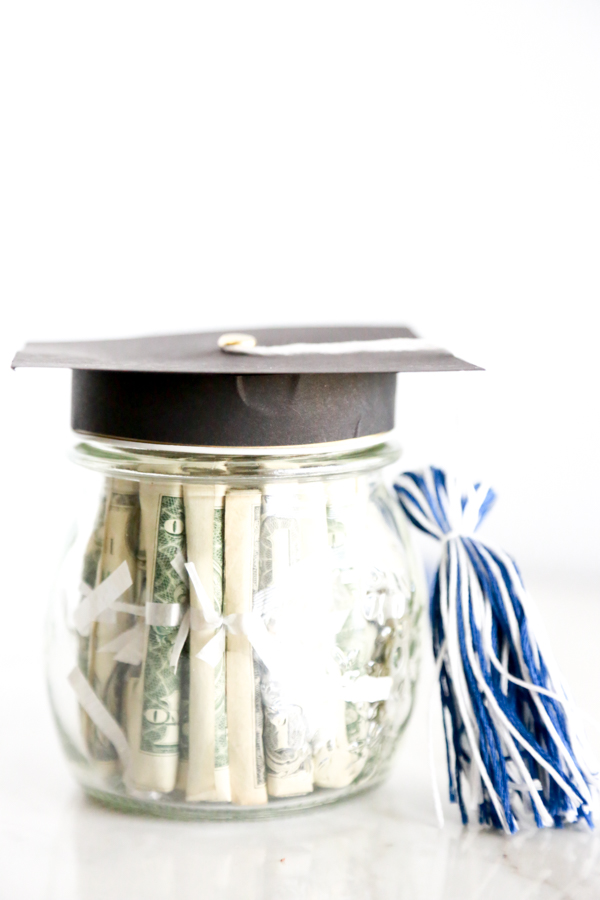 Mason Jar Graduation Cap Gift Idea Simply Being Mommy