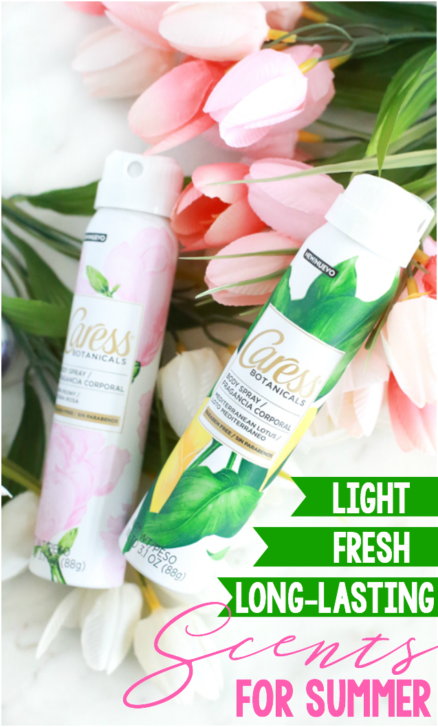 Awaken your senses this summer with fresh, light scents from the new Caress Botanicals Body Sprays line.