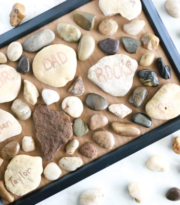 For a cute, inexpensive homemade Father's Day craft, make this adorable Our Dad Rocks Father's Day craft.
