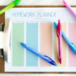 Free Printable Homework Planner for Students