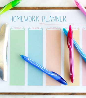 Get ready for homework season with this free printable homework planner for students.