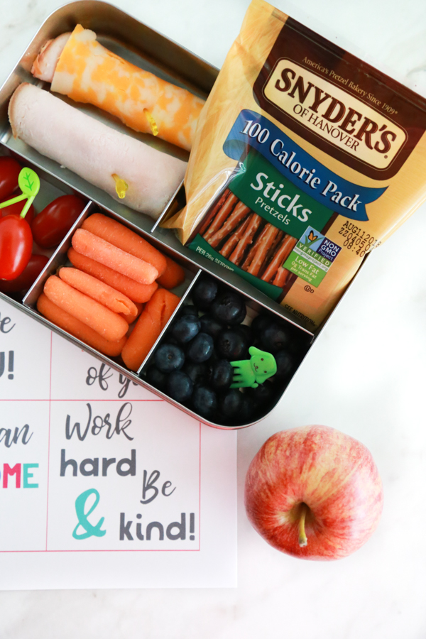 For a lunchbox packed with love, include these one of these free printable lunchbox notes and some of your child's favorite foods.