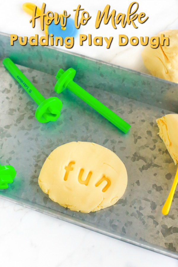 how to make pudding play dough