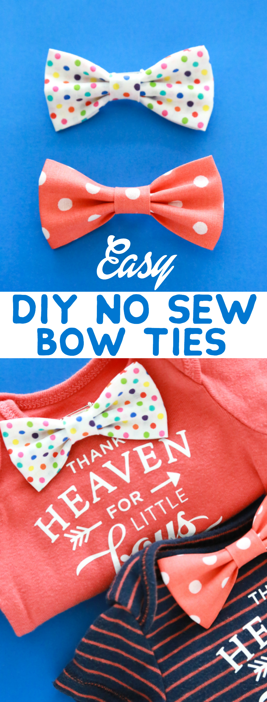 These DIY No Sew Bow Ties are so easy to make and lets face it – they're adorable, too!