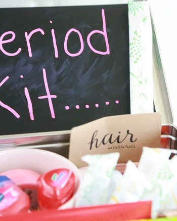 That time of the month really isn't pleasant for anyone. But you can make it special. Gift that special girl friend in your life with a DIY Period Kit during that time of the month.