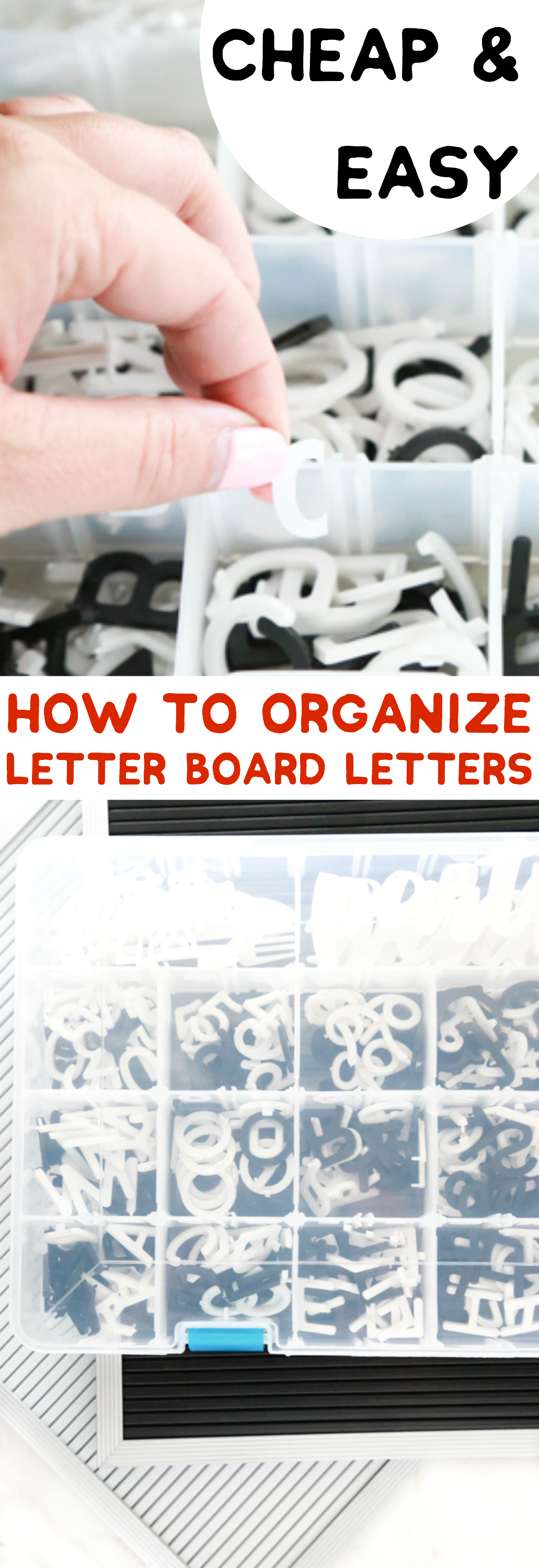Letter boards are a lot of fun to use, but organizing all those letters is a completely different story. I wanted to share one way I've learned how to organize letter board letters.