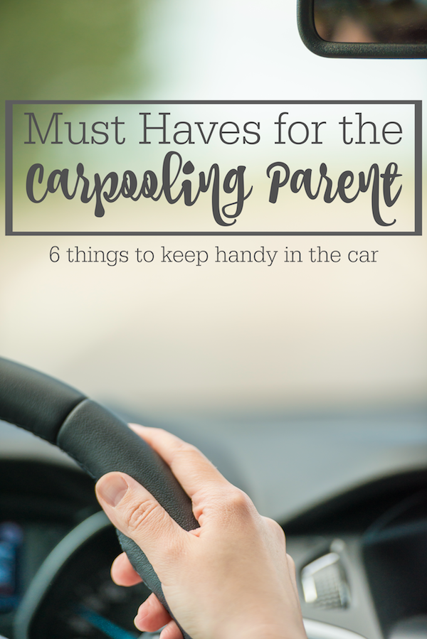 Carpooling isn't a glamorous job, but it's a necessary one. See my must haves for carpooling parents.