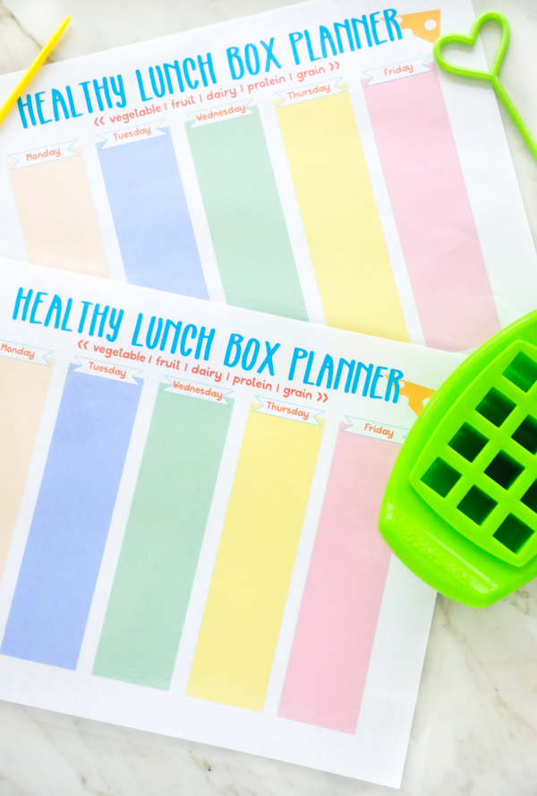 photograph regarding Printable Box identified as No cost Printable Lunch Box Planner Just Getting Mommy