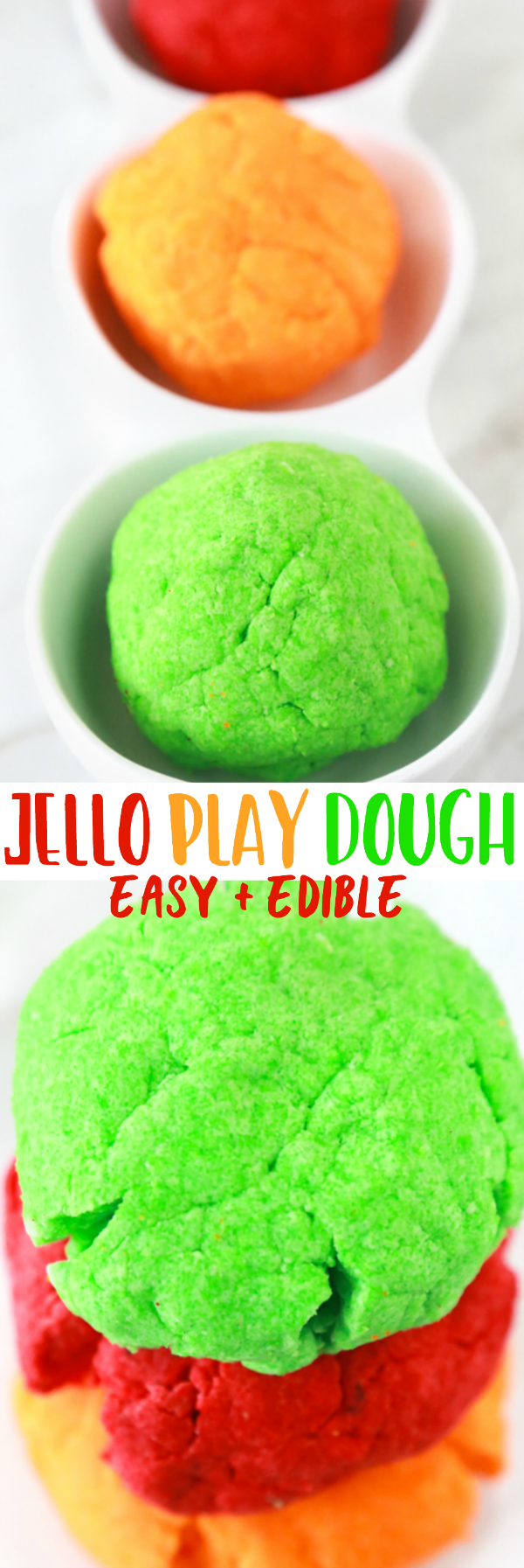 homemade jello playdough tutorial