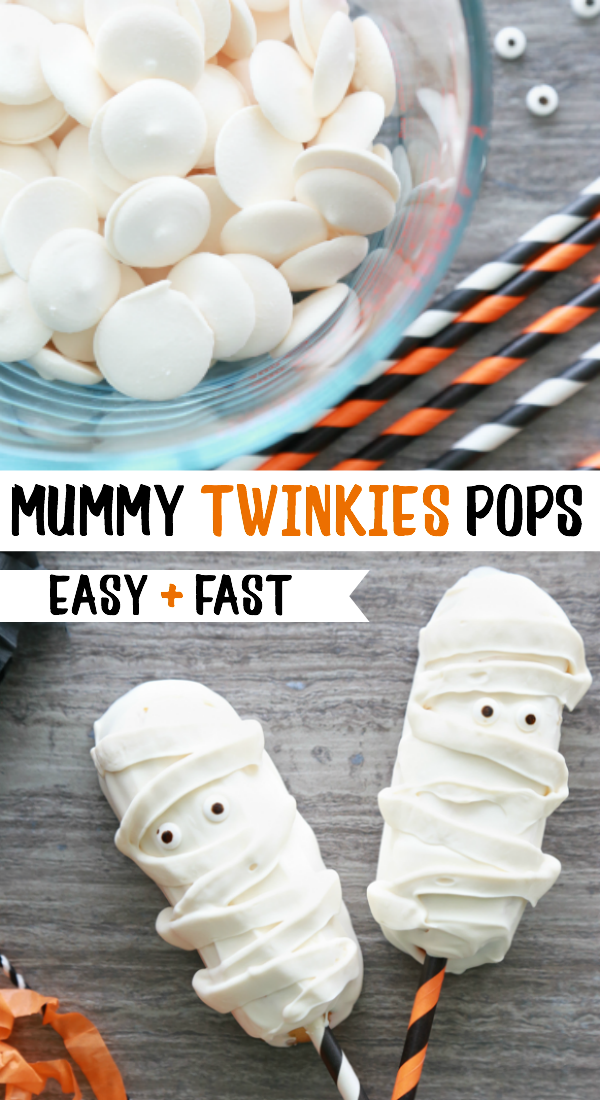 how to make mummy twinkie pops
