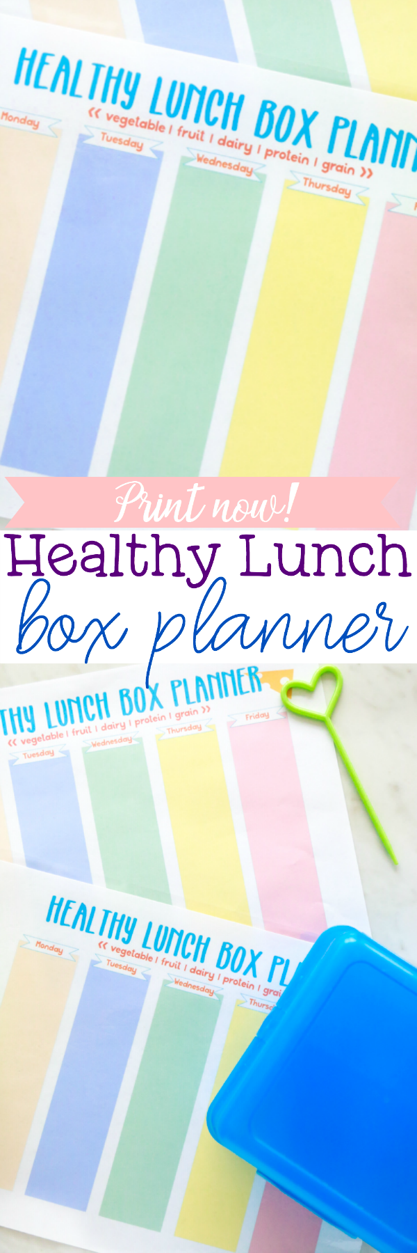 healthy lunch box planner printable