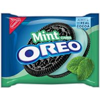 Oreo Chocolate & Mint Creme Sandwich Cookies 15.25 Oz. (2 Pack)
