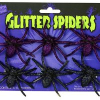 Glitter Spiders, 6-Pack, Assorted - Colors Vary