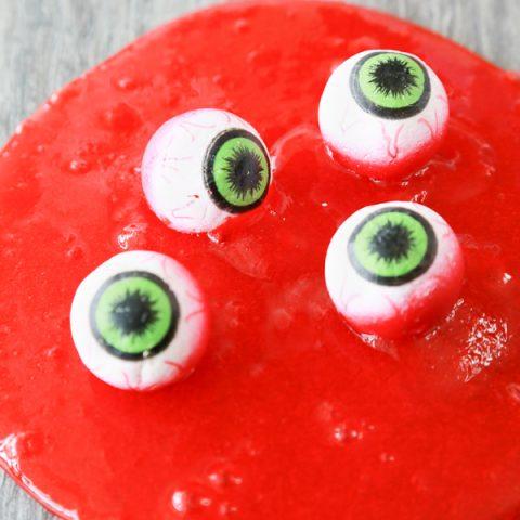 how to make eye ball slime