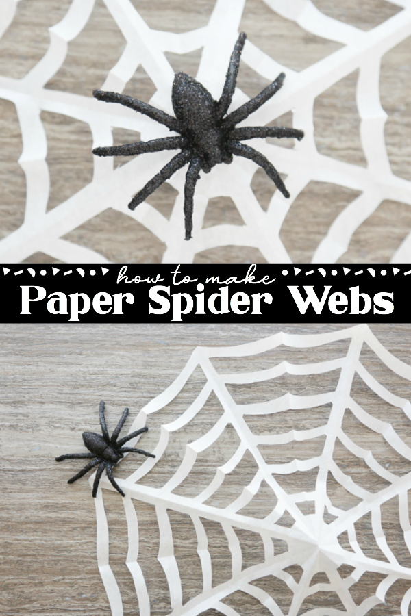 how to make a paper spider web