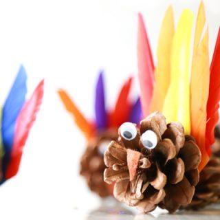how to make pinecone turkeys