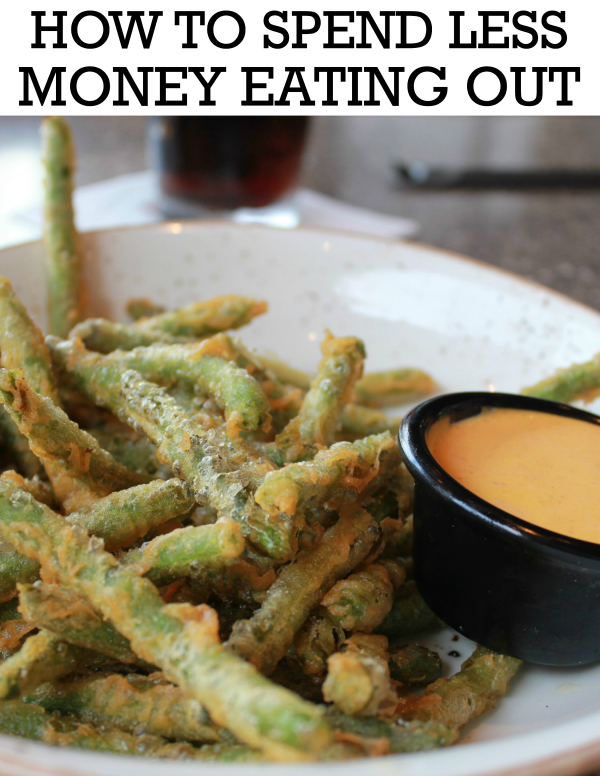 how to spend less money eating out