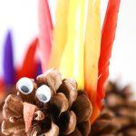 how to make pinecone turkeys