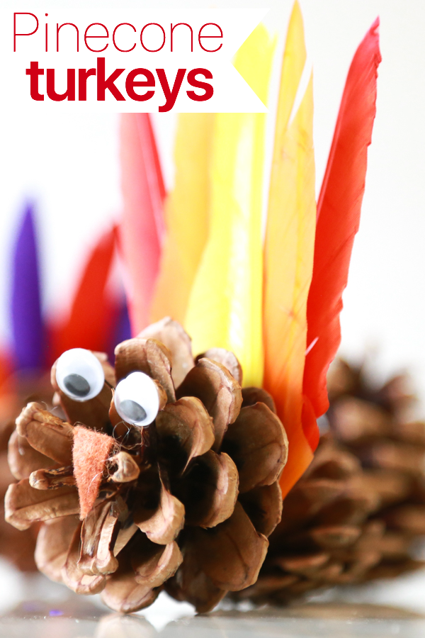 how to make pinecone turkeys for thanksgiving