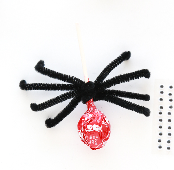 how to make a tootsie pop spiders
