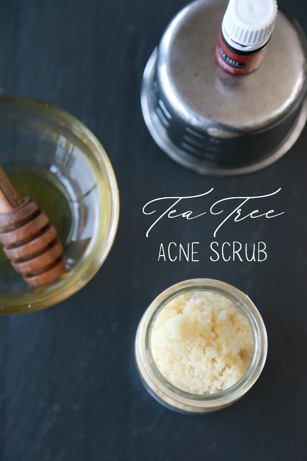 how to make tea tree acne scrub