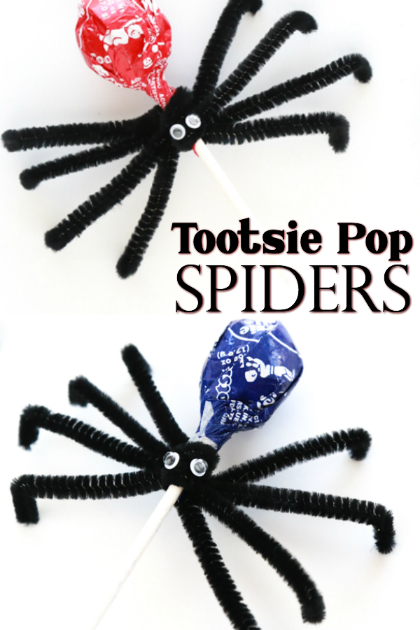 how to make a tootsie pop spider