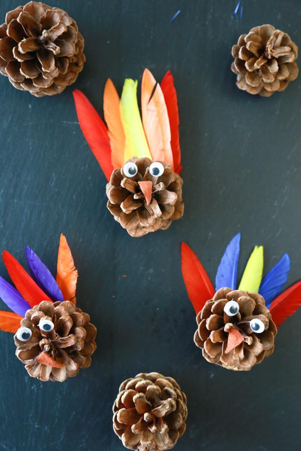 turkey pinecone kids craft