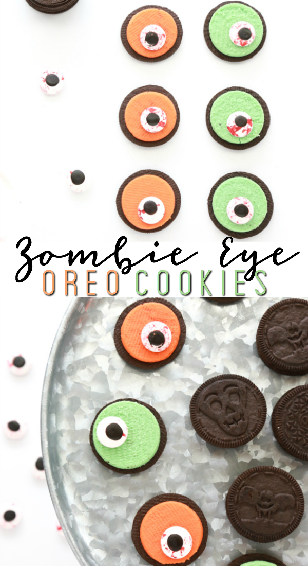 If you're running short on time and need a Halloween treat, these Zombie Eye Oreo Cookies are the perfect option.